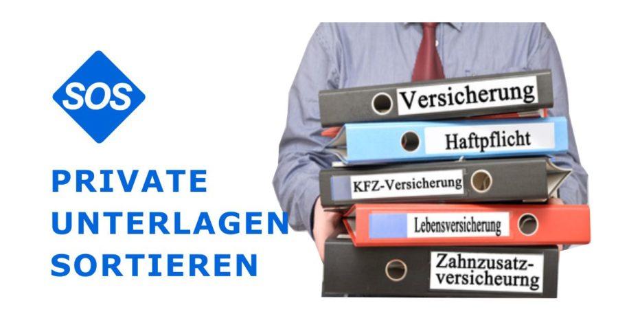 Private Unterlagen sortieren, Belege und Papiere ordnen.