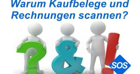 Belege scannen | Rechnungen, Kaufbelege digitalisieren