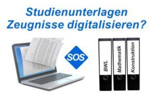 Zeugnisse scannen | Studienunterlagen digitalisieren | SOS Scanservice