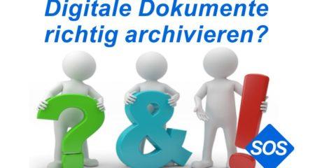Digitalisierte Dokumente sicher archivieren