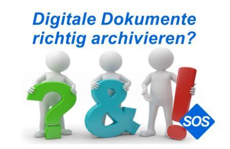 Dokumente aufbewahren | Digitale Dokumente sicher archivieren