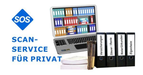 Scanservice Privat | Private Akten, Unterlagen und Papiere scannen