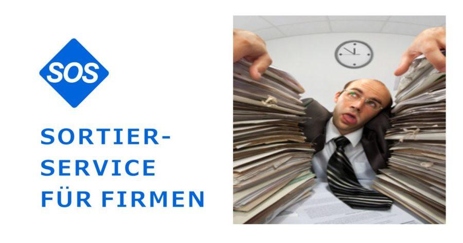 Büro Sortierdienst. Belege sortieren. Vorbereitende Buchhaltung.