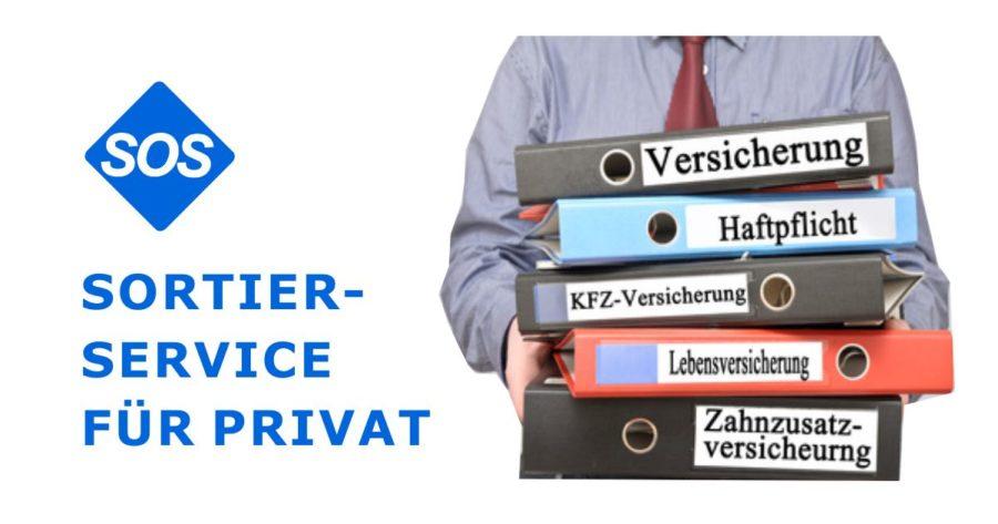 Private Unterlagen sortieren, Sortierservice Privat