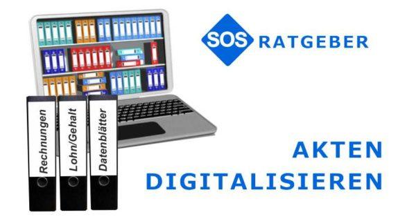 Akten digitalisieren, Aktenordner scannen. Jetzt beim SOS Scanservice Angebot anfordern