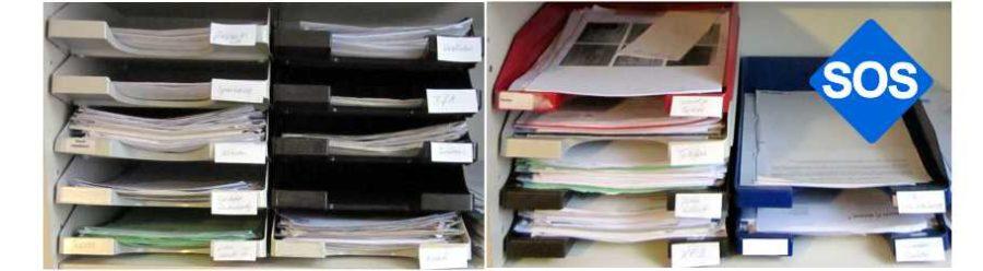 Unterlagen vorsortieren, Papiere richtig sortieren?